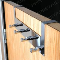 4 Hook Over Door Hanging Rail Chrome FOR THIN & WIDE DOORS ...