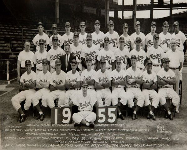 1955 Brooklyn Dodgers World Series Champions Team Photo
