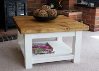 COTTAGE STYLE COFFEE TABLES WITH SHELF - HANDMADE SOLID ...