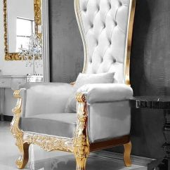 Christopher Knight Club Chair Wearever Backpack Queen Throne Baroque High Back Spa Wedding White Velvet & Gold | Ebay