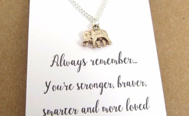 Always Remember Rose Gold Silver Plated Elephant Message