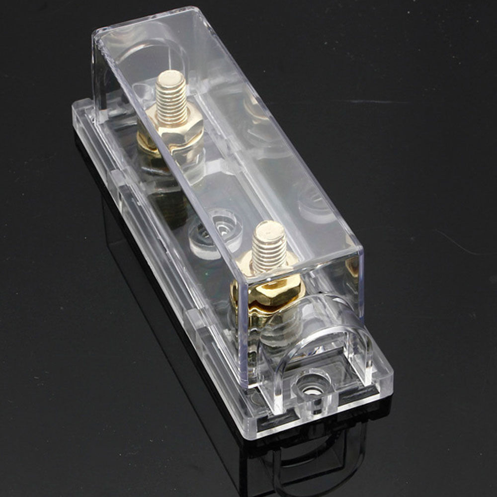 hight resolution of details about car audio gold in line 0 4 8 gauge anl fuse holder box awg wire plug hy sales
