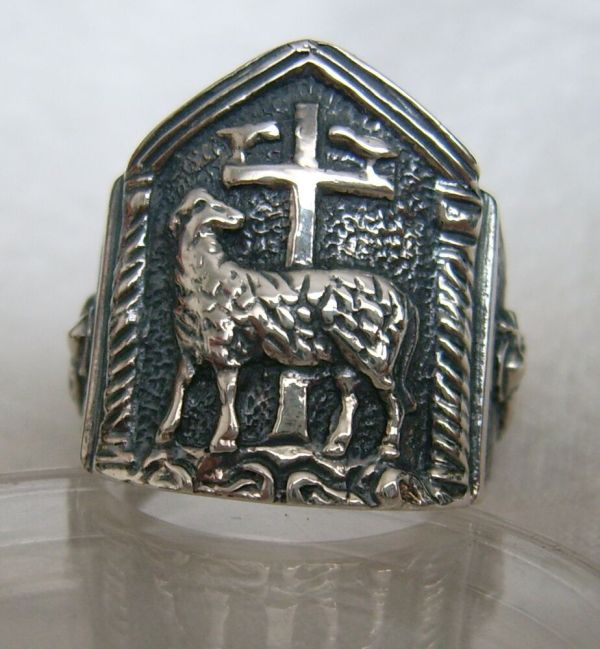 Catholic Christianity Bischof Ring 925 Silver
