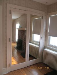 INTERIOR CLOSET DOOR WITH BUILT IN MIRROR FRENCH DOORS 4
