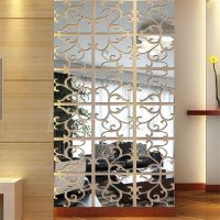32pcs 3D Acrylic Modern Mirror Decal Art Mural Wall