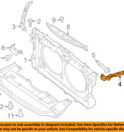 details about nissan oem 13 16 altima radiator core support upper left f25133tama [ 1000 x 798 Pixel ]