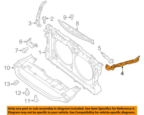 small resolution of details about nissan oem 13 16 altima radiator core support upper left f25133tama