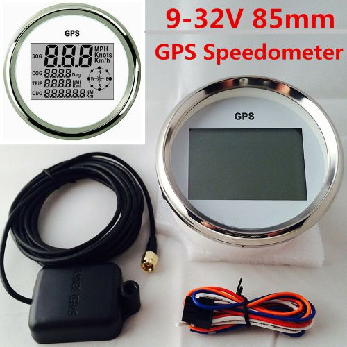 small resolution of details about 9 32v 85mm waterproof gps digital speedometer odometer gauge for auto car marine
