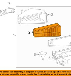 details about toyota oem 05 15 tacoma engine air filter element 178010p010 [ 1000 x 798 Pixel ]