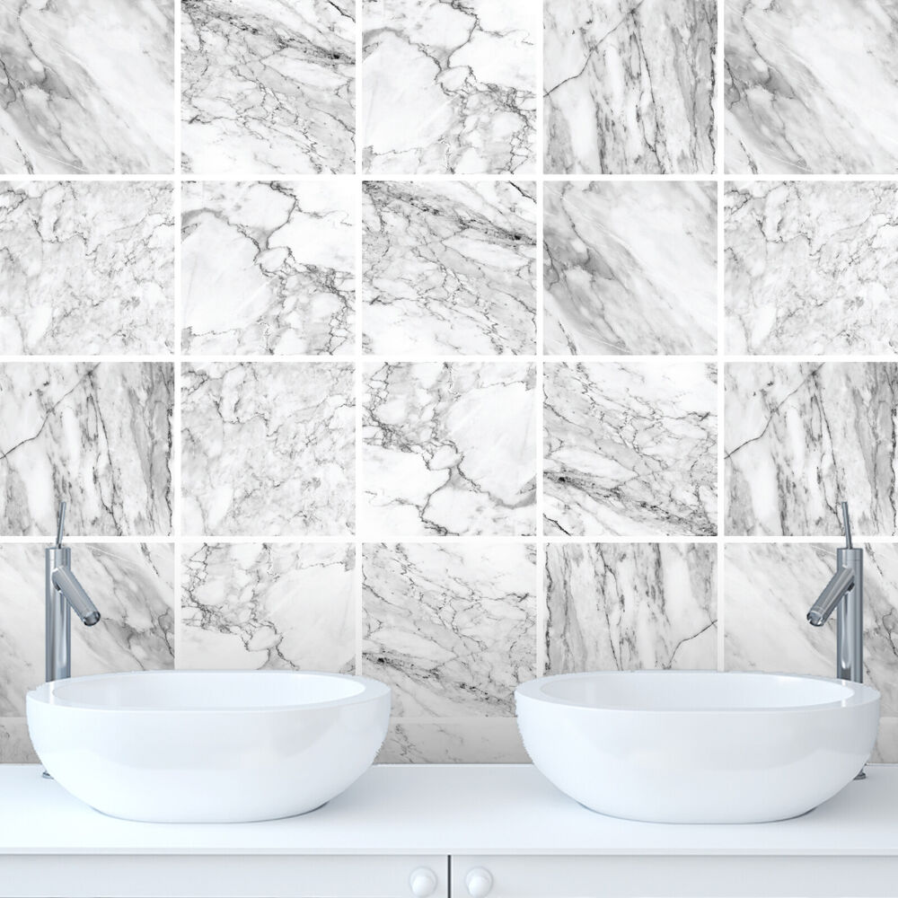 Tile Stickers Transfers Marble Bathroom Kitchen DIY Custom