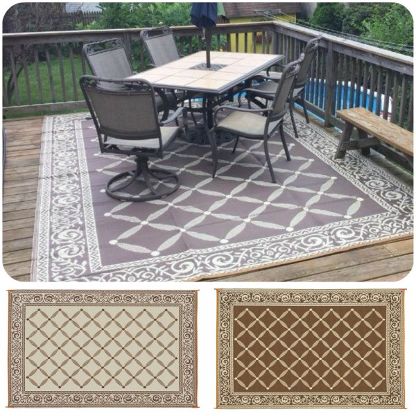 outdoor patio rug Reversible RV Patio Mat Outdoor Rug Camping Picnic Carpet Deck Rug Indoor Cover 696574154012 | eBay