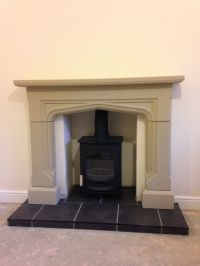 Stone Fireplace / Surround Wood Burner Gas Electric Fire ...