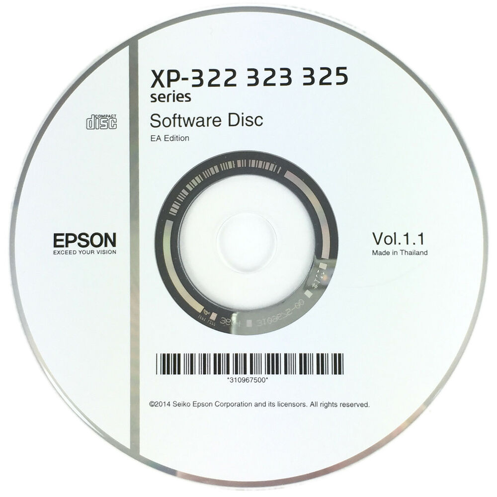 Epson Printer Driver Disc CD Expression Home XP-322 XP-323