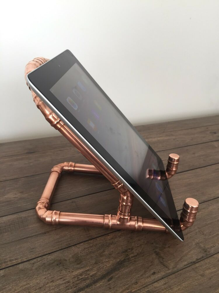 Handmade Copper Pipe Ipad Stand  Book Stand Tablet
