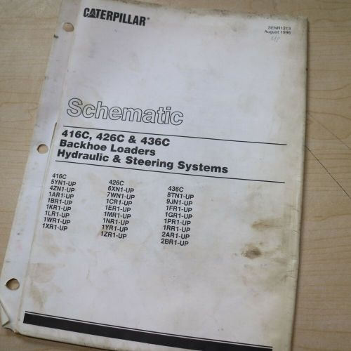 small resolution of caterpillar 416c 426c 436c backhoe loader electrical schematic diagram manual ebay