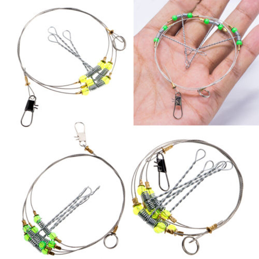medium resolution of details about free postage 5 x sea fishing rigs wire mono conger tope shark traces