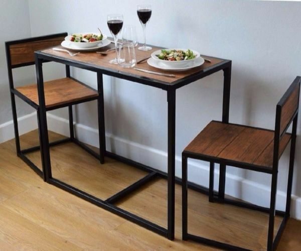 Small Kitchen Table And 2 Chairs Space Saver Dining Table
