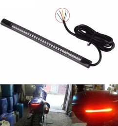 details about 1pc flexible 48 led motorcycle car tail brake stop lamp turn signal strip light [ 1000 x 1000 Pixel ]