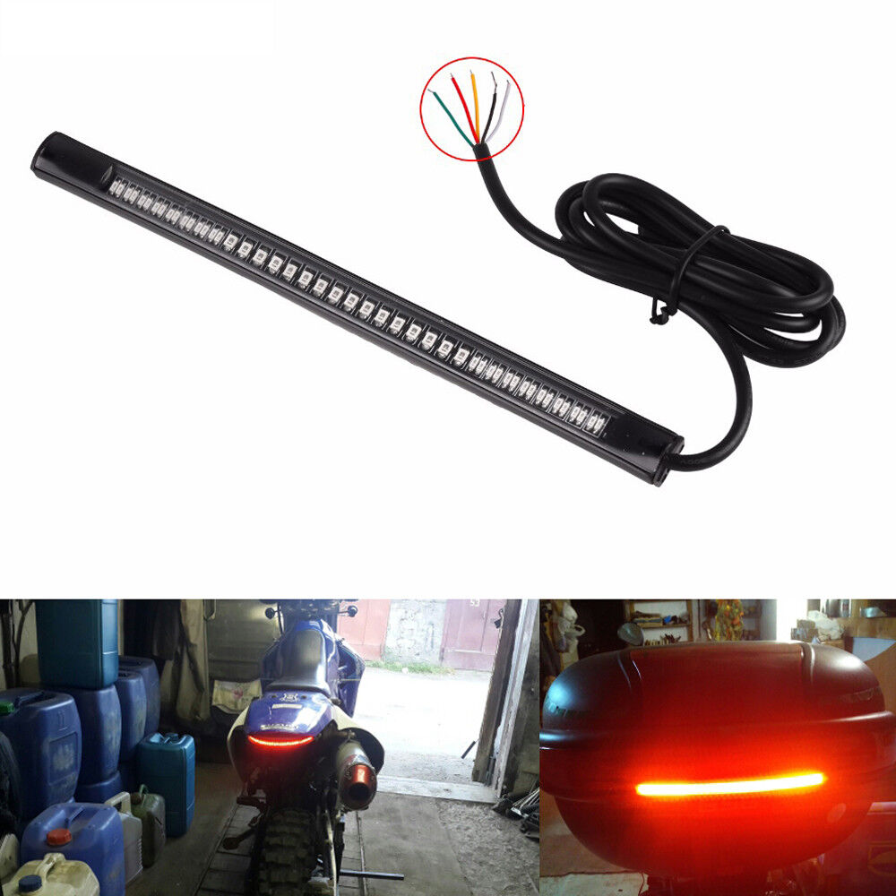 hight resolution of details about 1pc flexible 48 led motorcycle car tail brake stop lamp turn signal strip light