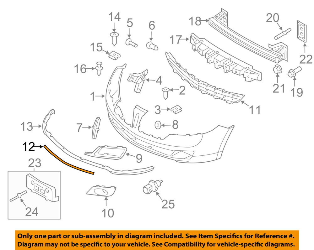 hight resolution of details about lincoln ford oem 10 12 mkz bumper trim molding trim ah6z8200d