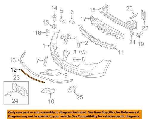 small resolution of details about lincoln ford oem 10 12 mkz bumper trim molding trim ah6z8200d