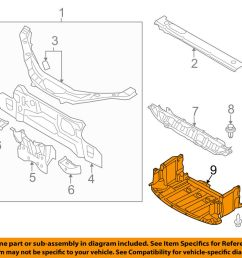 details about mazda oem 06 15 mx 5 miata under radiator engine cover splash shield ne5156110f [ 1000 x 798 Pixel ]