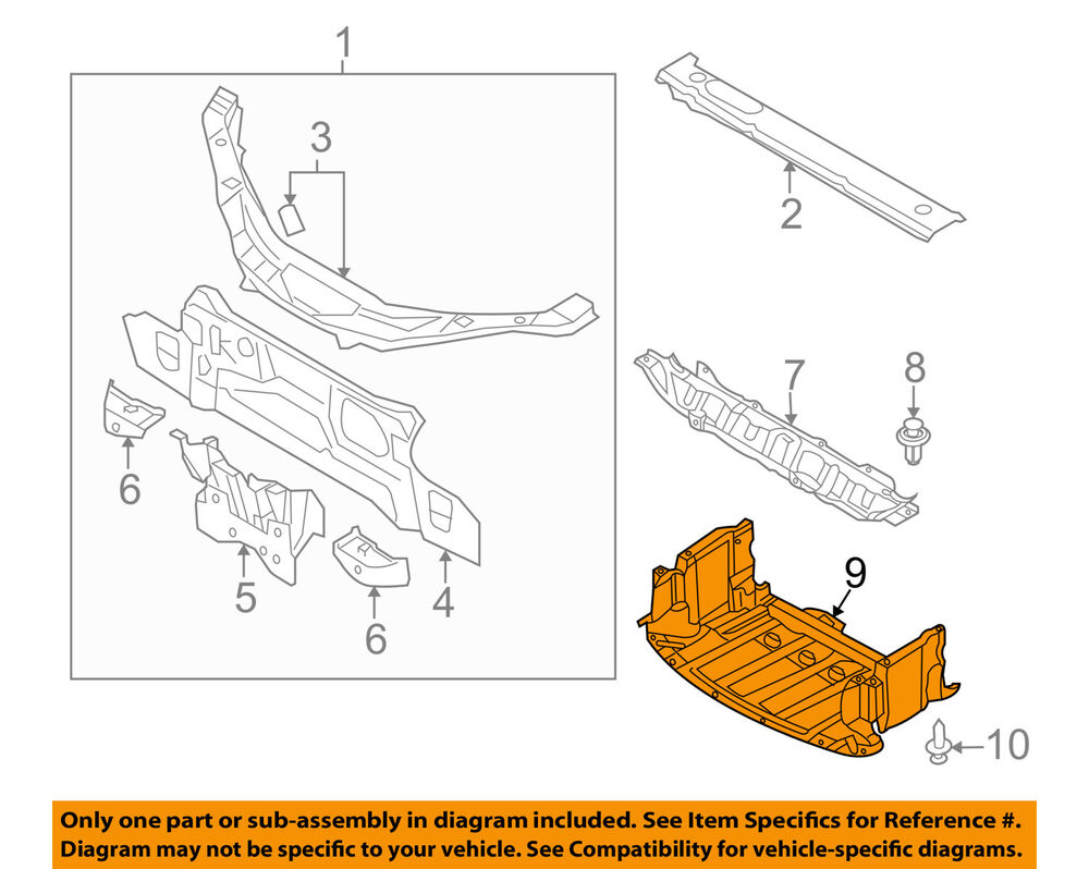 medium resolution of details about mazda oem 06 15 mx 5 miata under radiator engine cover splash shield ne5156110f