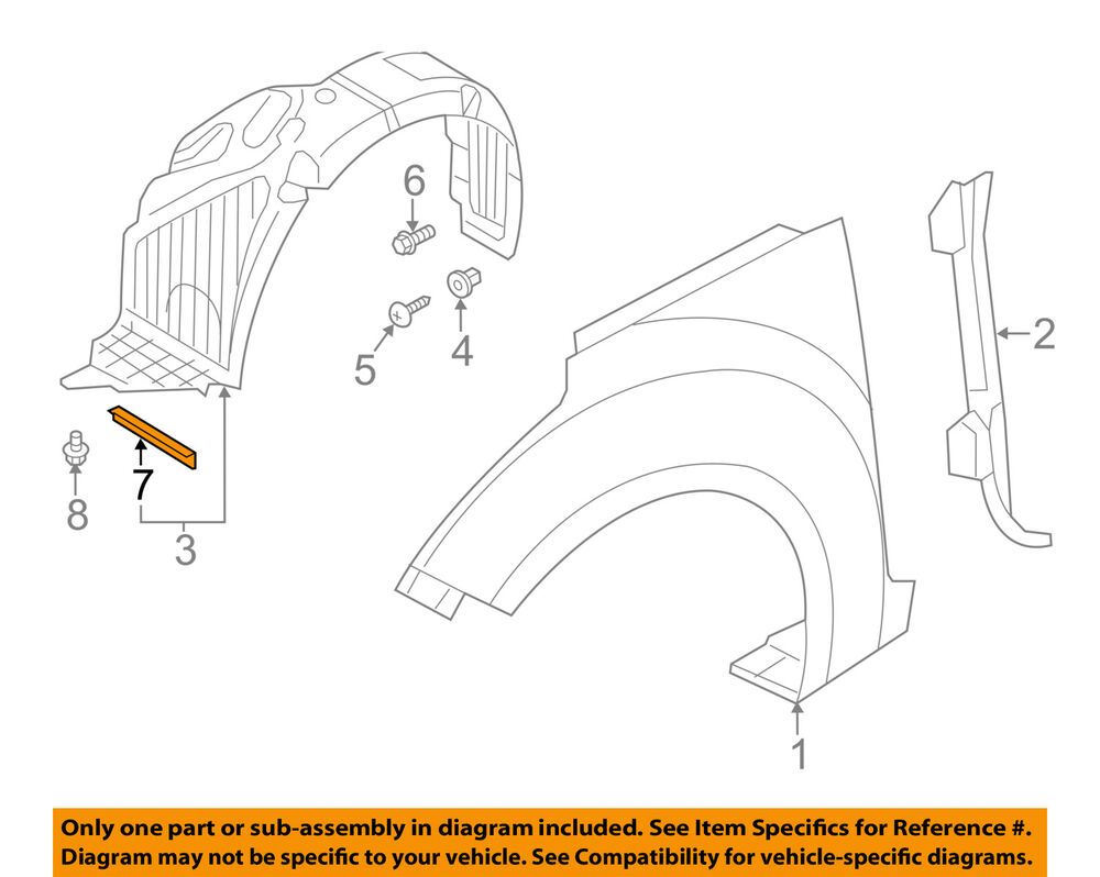 hight resolution of details about hyundai oem 2014 veloster fender deflector right 868182v510