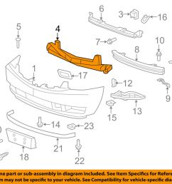 details about cadillac gm oem 07 14 escalade esv front bumper center support 22920677 [ 1000 x 798 Pixel ]