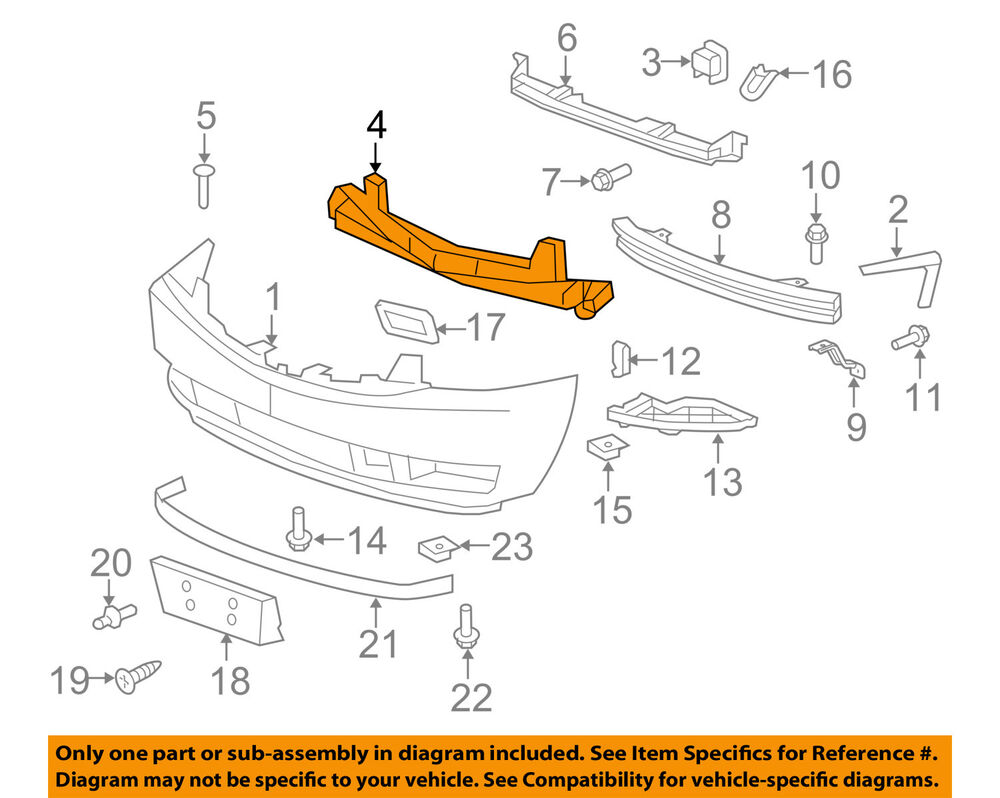 medium resolution of details about cadillac gm oem 07 14 escalade esv front bumper center support 22920677