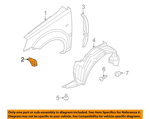small resolution of details about kia oem 06 11 rio fender front bracket left 663181g300