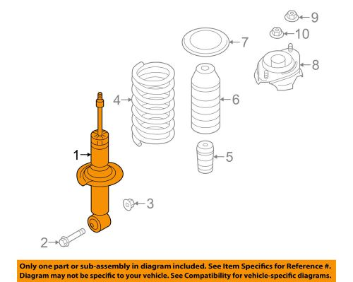 small resolution of details about subaru oem 15 16 outback rear suspension strut 20365al02a