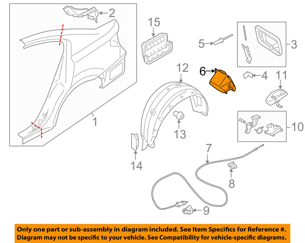 hight resolution of details about subaru oem 10 14 legacy fuel tank filler neck tube pipe 51478aj010