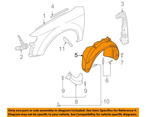 small resolution of details about audi oem 04 05 s4 front fender liner splash shield right 8e0821172c