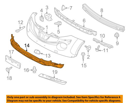 small resolution of details about nissan oem 11 14 juke front lower bumper spoiler chin lip splitter 620261ka0a