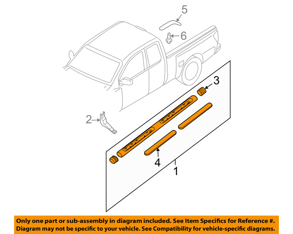 medium resolution of details about nissan oem 09 18 frontier cab step bar assembly left 96101zp60a