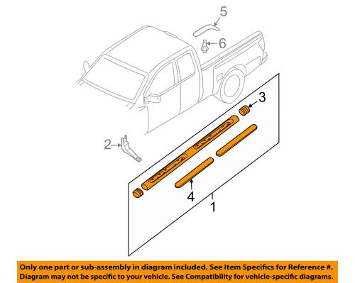 small resolution of details about nissan oem 09 18 frontier cab step bar assembly left 96101zp60a