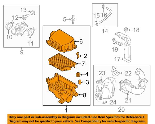 small resolution of details about kia oem 12 15 rio air cleaner intake filter box housing 281101w100
