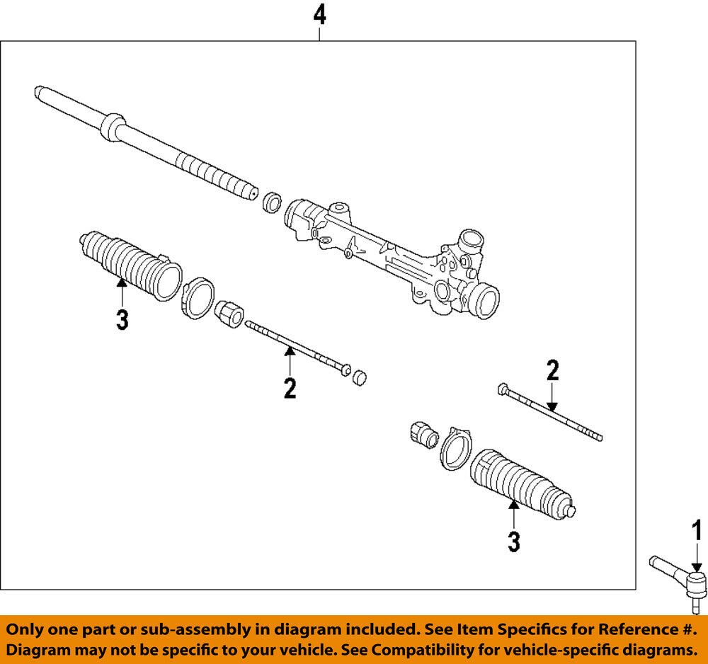 medium resolution of details about ford oem 10 14 f 150 steering gear outer tie rod end al3z3a130a