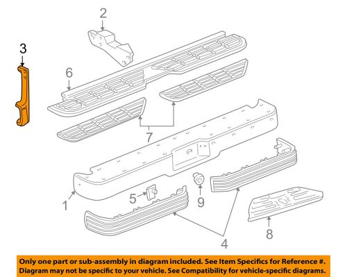 small resolution of details about gm oem rear bumper face bar brace left 15548457