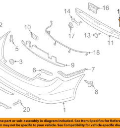 details about hyundai oem rear bumper impact bar reinforcement rebar lower bracket 866353q000 [ 1000 x 798 Pixel ]