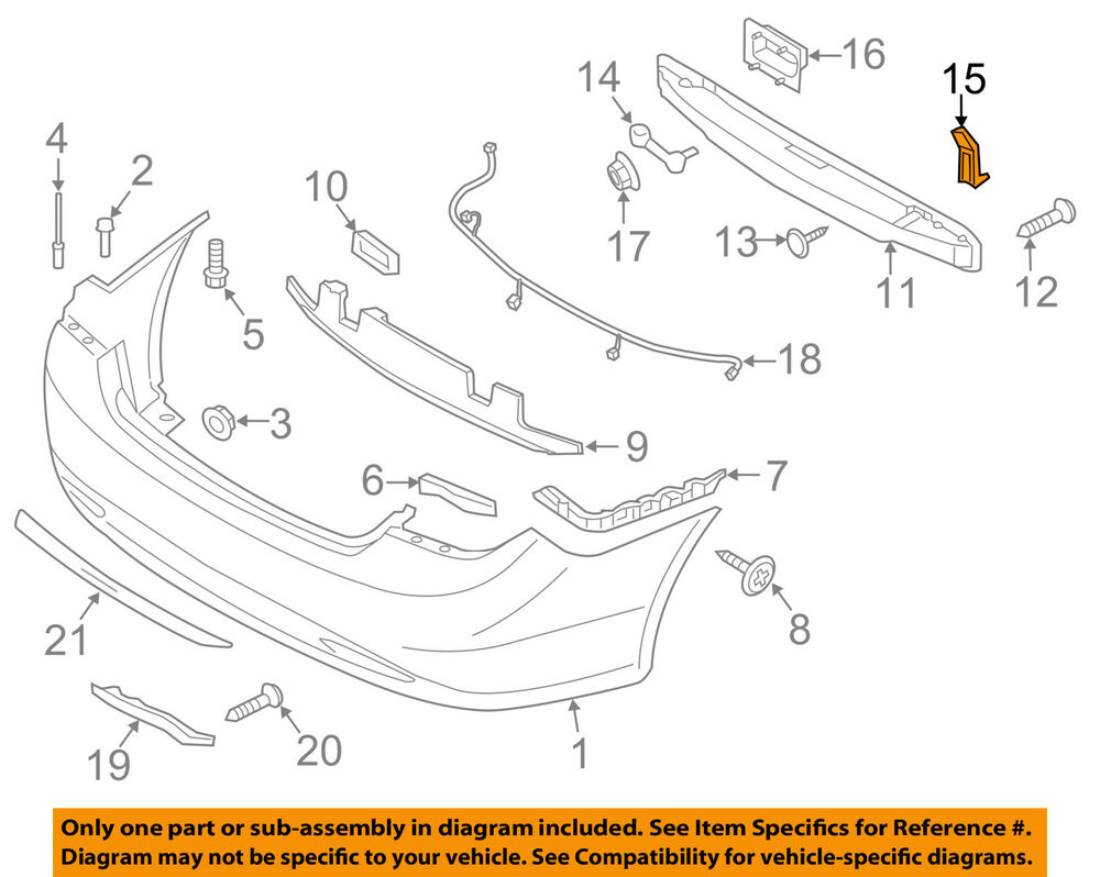 medium resolution of details about hyundai oem rear bumper impact bar reinforcement rebar lower bracket 866353q000