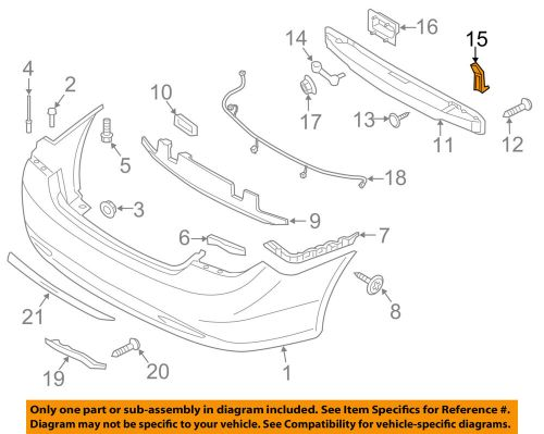small resolution of details about hyundai oem rear bumper impact bar reinforcement rebar lower bracket 866353q000