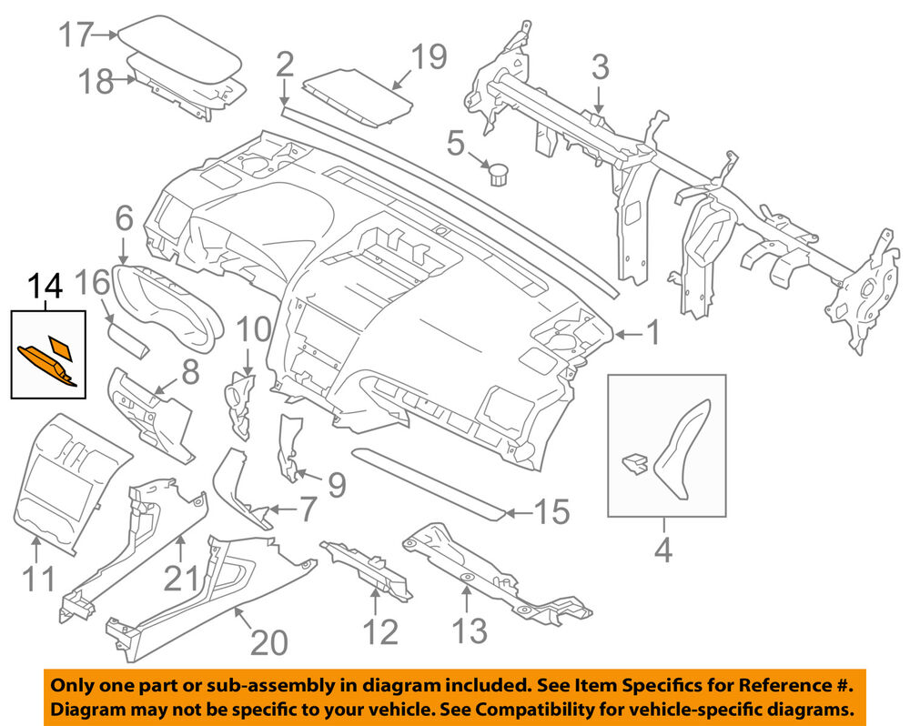 hight resolution of details about subaru oem 14 16 forester instrument panel dash fuse box door 66135fj010ll