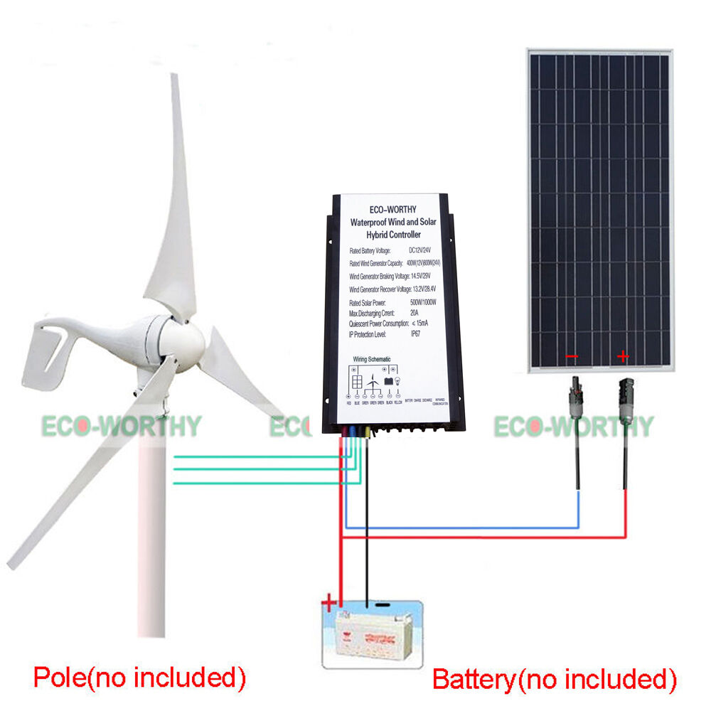 hight resolution of details about 500w h hybrid system wind turbine generator 100w pv solar panel 20a controller