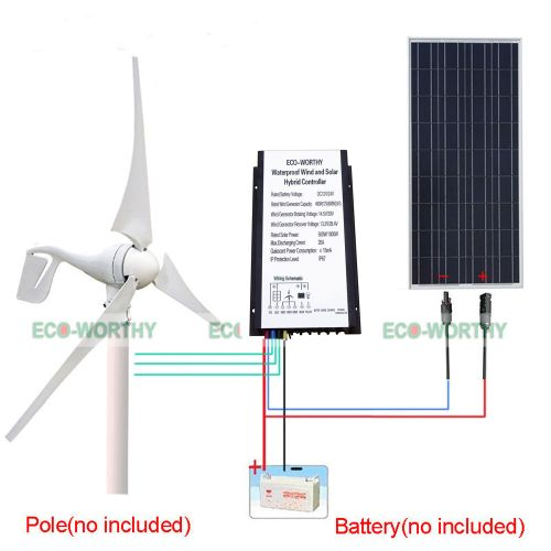 small resolution of details about 500w h hybrid system wind turbine generator 100w pv solar panel 20a controller