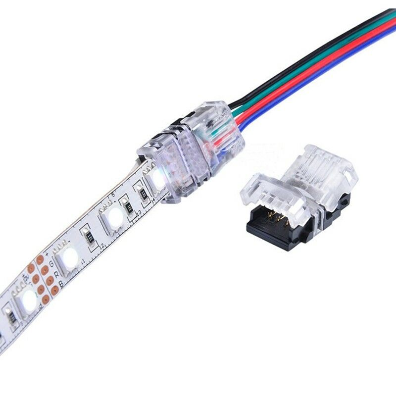 5050 led strip wiring diagram guitar diagrams 1 pickup quick adapter connector multi color rgb smd light