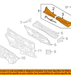 details about kia oem 06 11 rio cowl panel windshield wiper motor cover 861501g050 [ 1000 x 798 Pixel ]