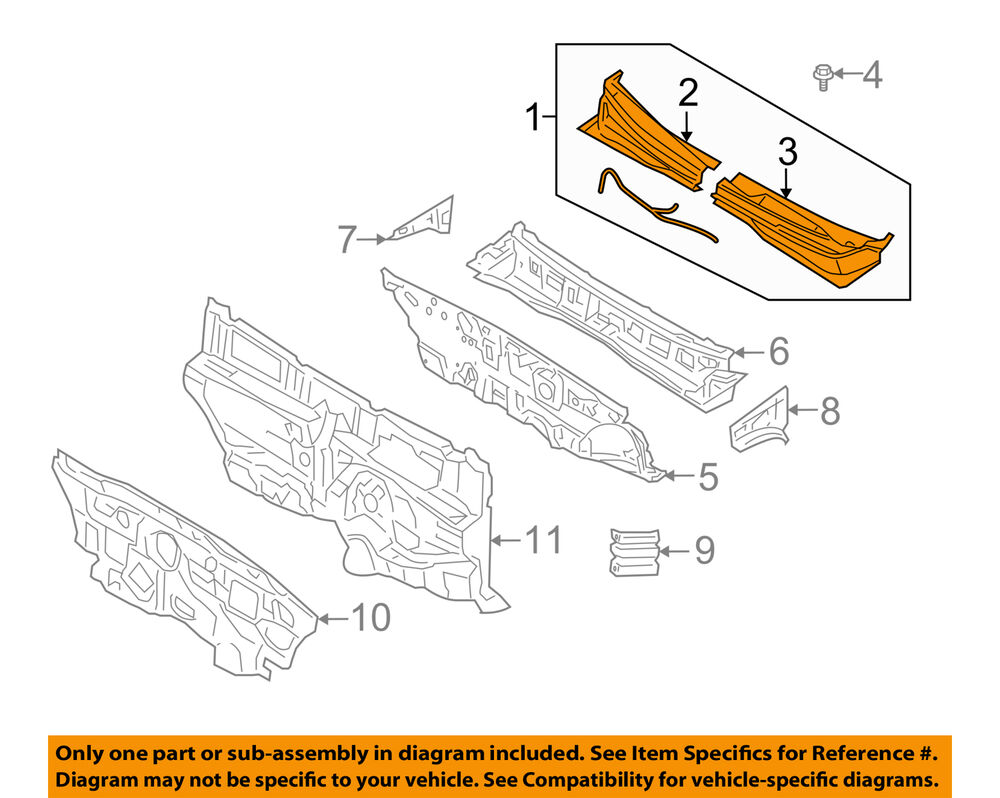 hight resolution of details about kia oem 06 11 rio cowl panel windshield wiper motor cover 861501g050