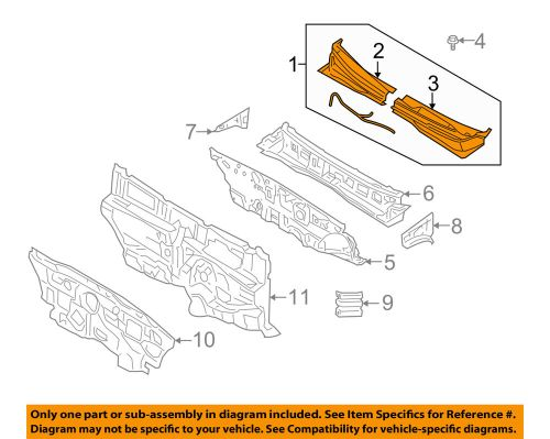 small resolution of details about kia oem 06 11 rio cowl panel windshield wiper motor cover 861501g050